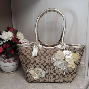 Coach Limited Edition Large Leather/Jacquard Bag